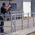 Kamera Stativ im Außen Einsatz
