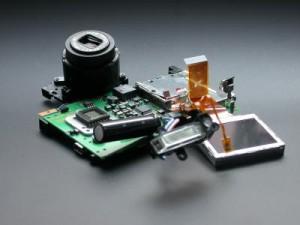 Kompaktkamera im Detail Aufbau
