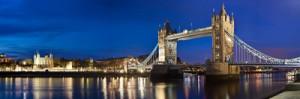 Panorama Bild von London bei Nacht