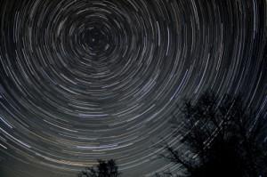 Timelapse Fotografie Sterne am Himmel