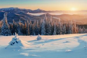 Fotografieren im Winter Abendrot
