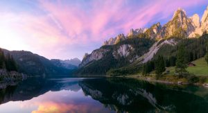 Urlaubsfotos Tipps: Bergpanorama bei Sonnenaufgang