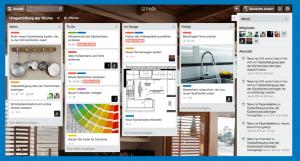 Organisation-Software-Trello: So kann ein Board aussehen