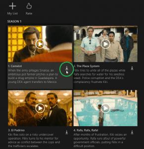Netflix-Serien downloaden: Screenshot vom Download-Symbol mit Pfeil